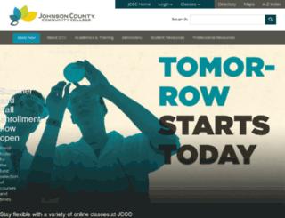 web.jccc.edu screenshot