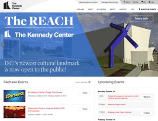 web.kennedy-center.org screenshot