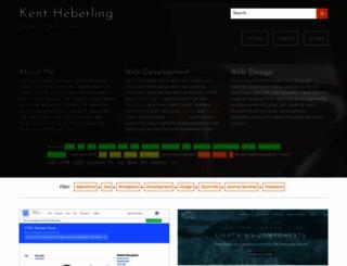 web.kentheberling.com screenshot