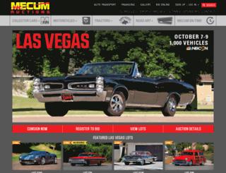 web.mecum.com screenshot