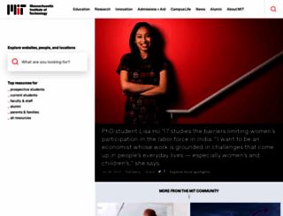 web.mit.edu screenshot