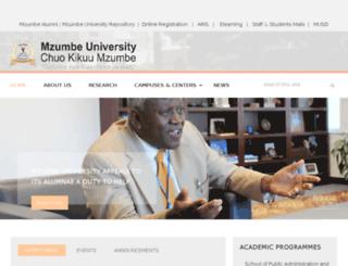 web.mzumbe.ac.tz screenshot