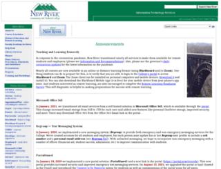 web.newriver.edu screenshot