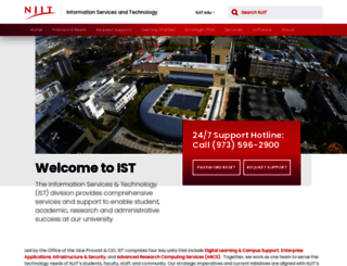 web.njit.edu screenshot