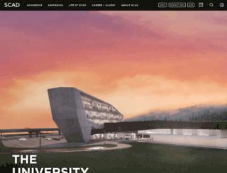 web.scad.edu screenshot