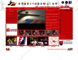 web.slovakhandball.sk screenshot