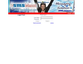 web.smslebanon.com screenshot
