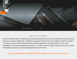 web.transim.com screenshot
