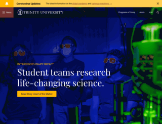 web.trinity.edu screenshot