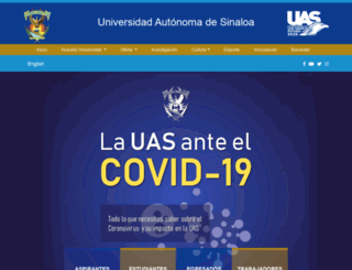 web.uas.edu.mx screenshot