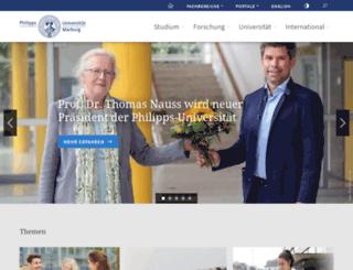 web.uni-marburg.de screenshot