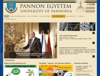web.uni-pannon.hu screenshot
