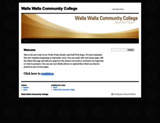 web.wwcc.edu screenshot