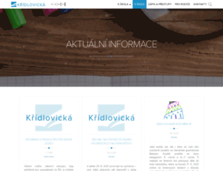 web.zskridlovicka.cz screenshot