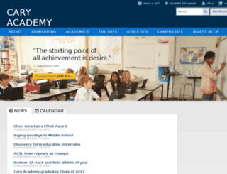 web1.caryacademy.org screenshot