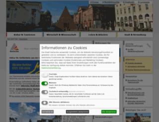 web1.karlsruhe.de screenshot