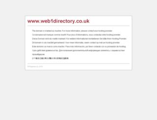 web1directory.co.uk screenshot