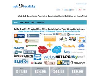 web2.0backlinks.com screenshot