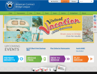 web2.acbl.org screenshot
