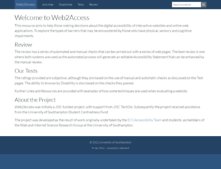 web2access.org.uk screenshot