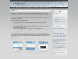 web2project.net screenshot