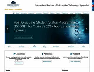 web2py.iiit.ac.in screenshot