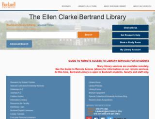 web5.bucknell.edu screenshot