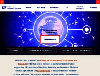 webadmin.ufl.edu screenshot