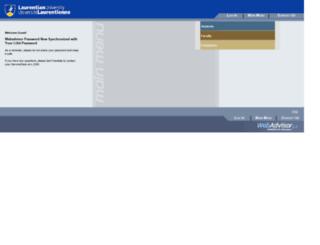 webadvisor.laurentian.ca screenshot