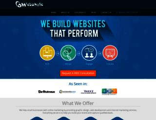 webaholic.co.in screenshot