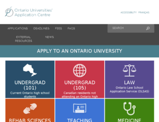 webapp.ouac.on.ca screenshot