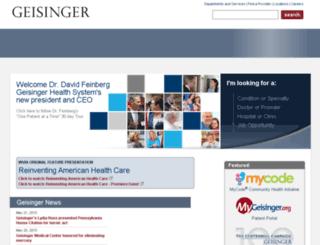 webapps.geisinger.org screenshot