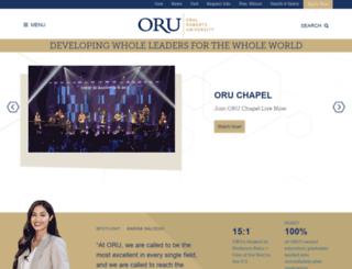webapps.oru.edu screenshot