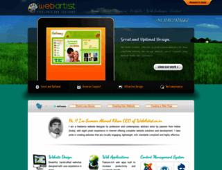 webartist.co.in screenshot