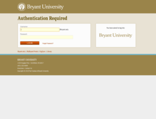 webauth.bryant.edu screenshot