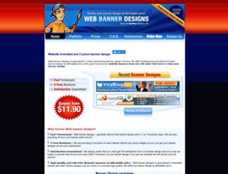 webbannerdesigns.com screenshot