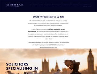 webbimmigration.com screenshot