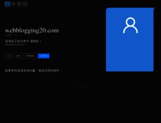 webblogging20.com screenshot