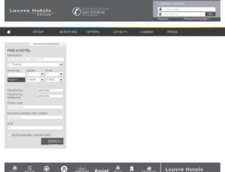 webbooking.louvre-hotels.fr screenshot