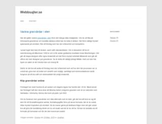 webbsajter.se screenshot