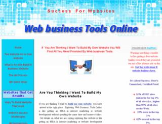 webbusinesstoolsonline.com screenshot