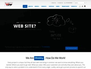 webbyinfotech.com screenshot