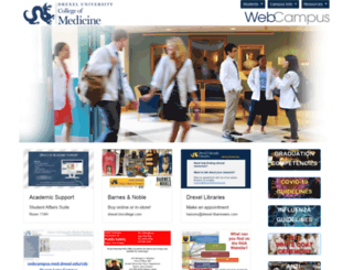 webcampus.drexelmed.edu screenshot