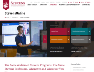 webcampus.stevens.edu screenshot