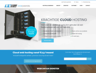 webcanyon.be screenshot