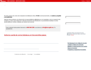webcas01.bizkaia.eu screenshot