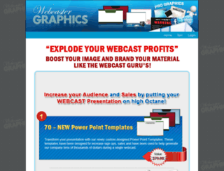 webcastergraphics.com screenshot