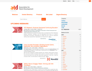 webcasts.td.org screenshot