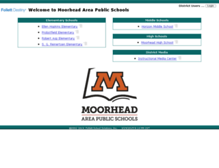 webcat.moorheadschools.org screenshot