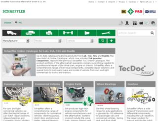 webcat.schaeffler-aftermarket.com screenshot